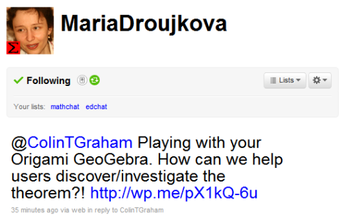 A Tweet from @MariaDroujkova asking for how it could be used